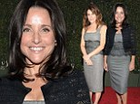 Copy cat! Julia Louis-Dreyfus looks lovely in lace dress... after nabbing it off Enough Said director who wore it the night before