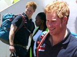 After arriving in Cape Town on a flight from London today, the Prince Harry joined his team mates on a bus ride to a local hotel where they could relax ahead of their Arctic trek