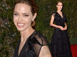 She's breathtaking! Angelina Jolie casts some black magic over the Governors Awards in stunning lace and sequined gown