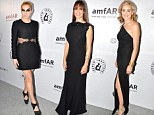 These black dresses are anything but basic! Hilary Swank and Sharon Stone attend Amfar gala in elegance while Kesha finds a way to stand out