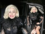 Lady Gaga arrived at the Saturday Night Live after party revealing her bra in a rather see-through dress