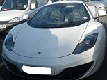 Seized: This McLaren M4, which has a top speed of 204mph and costs £170,000, was taken off the road after it was involved in a collision with a cyclist and the driver lacked the necessary insurance