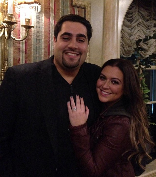 Engagement joy: Real Housewives of New Jersey's Lauren Manzo revealed her diamond ring from fiance Vito Scalia after he popped the question on Tuesday