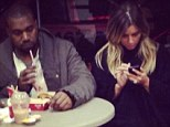 Fancy seeing you here! Kim Kardashian and Kanye West enjoy dinner date at Wendy's fast food restaurant