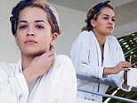 Pictured: Rita Ora appears for the first time since her dramatic collapse from 'heat exhaustion and dehydration'