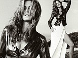 Ageless beauty: Cindy Crawford showed off her lean limbs in the December issue of C magazine