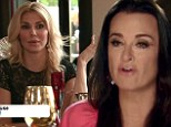 'You don't have to be so mean': Kyle Richards left in tears after Brandi Glanville brings up cheating rumours... as Carlton Gebbia admits 'I'm a witch'