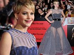 The odds are ever in her favour! Jennifer Lawrence looks sensational in leotard under sheer gown at Hunger Games: Catching Fire LA premiere