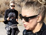 So that's her secret! Fergie takes up canyon running in a bid to battle baby weight less than three months after birth of son Axl