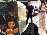 'I'll buy you diamonds, I'll buy you jewels!' Kylie Jenner gets the 'girlfriend treatment' as Jaden Smith clasps gold chain around her neck during shopping spree