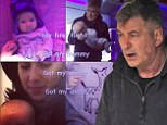 Alec Baldwin and wife Hilaria share photos of baby's first flight just days after he called America's obsession with celebrity lives 'tragic'
