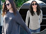 Pictured: David Arquette's girlfriend Christina McLarty debuts her baby bump in an outfit that looks borrowed from his ex Courteney Cox's closet
