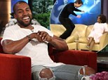 'We were just practising all the time!' Smitten Kanye West on Kim Kardashian's surprise pregnancy... and how he's trying to avoid a 'jump on the couch' moment
