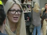Tori Spelling seen shopping for wigs at Outfitter Wig