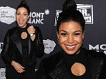 Jordin Sparks wows in quilted leather jacket and cut-out top at annual theatre benefit after party