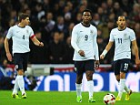 Frustration: Gerrard (left), Daniel Sturridge and Andros Townsend (right) look dejected after the opener