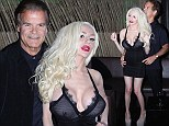 Has Courtney got a new crinkly? Stodden, 18, steps out Anna Nicole Smith's ex Edward Lozzi... and he's 53 just like her husband Doug