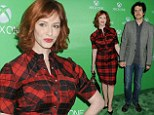 There's no question over who was keen to attend the Xbox One launch party out of actress Christina Hendricks and her husband Geoffrey Arend