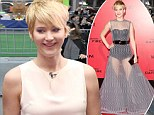 'It wasn't my favourite look': Jennifer Lawrence admits she didn't like showing off her thighs in the sheer Dior gown she wore to LA premiere for The Hunger Games