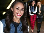 Where are Jesse and Joe? Cara Santana is a punky bombshell during a stylish girls' night out with Blanda Eggenschwiler