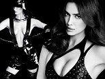 Brace yourselves! Irina Shayk goes topless in bondage-style shoot¿ her modesty only preserved by pair of PVC braces