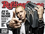 Cover shot: Eminem graced the cover of Rolling Stone magazine with the headline Eminem Reborn