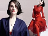 Michelle Dockery flashes her bra as she strikes a red hot pose for sexy magazine shoot