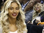 There has been much talk about the state of Beyoncé and Jay-Z's marriage lately. But the couple put up a united front watching a NBA basketball game