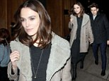 Keira Knightley and husband James Righton step out for dinner in London on Thursday evening
