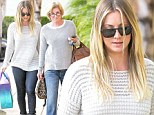So that's where she gets her great style from! Kaley Cuoco and her mother catch up over a girls' lunch in near identical outfits