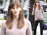 Jennifer Garner shows off her bare-faced beauty but hides her recent weight loss under baggy clothes
