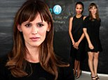 Jennifer Garner and Zoe Saldana flash some skin but still keep it classy in black at Variety Awards studio