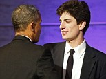 Jack Schlossberg introduced President Obama at the Smithsonian's National Museum of American History where a dinner was held to honor recipients of the Presidential Medal of Freedom, first minted by JFK.