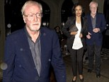 Sir Michael Caine steps out with wife Shakira on Wednesday