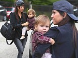 Her favourite accessory! Kourtney Kardashian carries designer diaper bag but all eyes are on adorable daughter Penelope