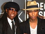 Hitmakers: Nile Rodgers and Pharrell Williams - who helped craft Daft Punk's No 1 Get Lucky - arrive at the MTV Video Music Awards in Brookyn, NY, in August