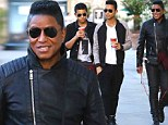 Problem solved? Jermane Jackson spotted with boys Jermajesty and Jaafar a month after it emerged he owed $30k in child support