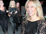 Girls' night out! Heather Locklear steps out in black lace top and leggings as she lets her hair down for evening with friends