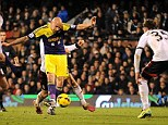 Brilliant: Jonjo Shelvey won Swansea the game with a brilliant strike into the top corner after a lovely team move