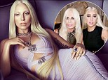 Is that you, Donatella? Lady Gaga recreates the fashion icon's look as the new 2014 Versace Spring campaign is unveiled