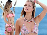 Wanted woman! Max George's model girlfriend Nina Agdal shows how she caught the eye of one of England's most eligible bachelors in a variety of barely-there bikinis