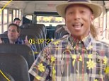 Pharrell dances all over LA alongside famous friends and strangers in world's first 24 hour interactive music video for Happy