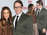 He's her Mr Big! Sarah Jessica Parker and husband Matthew Broderick share a special moment at the opening night of her play