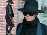 On guard! Nicole Richie channels caped crusader Zorro as she swoops in on Sunset Blvd. dressed in tight leather trousers and a wide brimmed hat