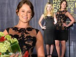 Francesca Eastwood shines in LBD as she passes Miss Golden Globes torch to Kevin Bacon's daughter Sosie