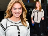 What break up? Kate Upton steps out smiling and stunning in cream studded sweater amid reports of split with Maksim Chmerkovskiy