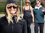 The couple that works out together, stays together! Goldie Hawn, 68, shows off impeccable physique as she and Kurt Russell enjoy a merry trot