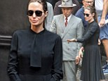 Are you in mourning? Angelina Jolie wore a grim-looking black dress as she directed her upcoming film Unbroken in Sydney, Australia on Thursday