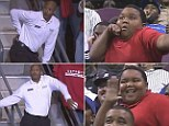 During Tuesday night¿s game between the Detroit Pistons and New York Knicks, an absolutely incredible dance-off took place between a young fan and an usher.