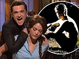 Josh Hutcherson spoofs The Hunger Games on SNL after appearing shirtless and mud-covered in gritty Tyler Shields shoot